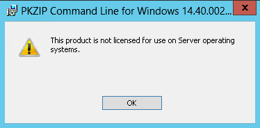 E253 This program is not licensed for use on Windows Server