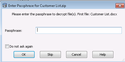 The Password you typed is not correct - PKZIP/SecureZIP - PKWARE