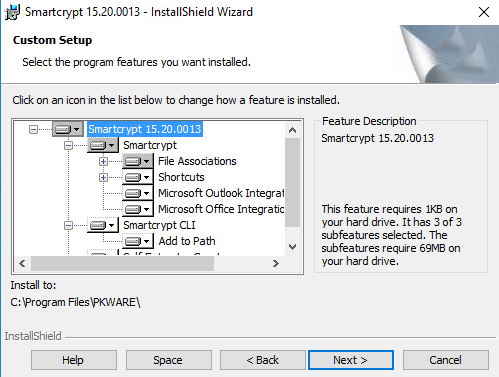 Windows: Installation - Smartcrypt for Desktop - PKWARE
