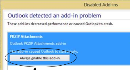 KB - Outlook attachments are disabled - PKZIP/SecureZIP