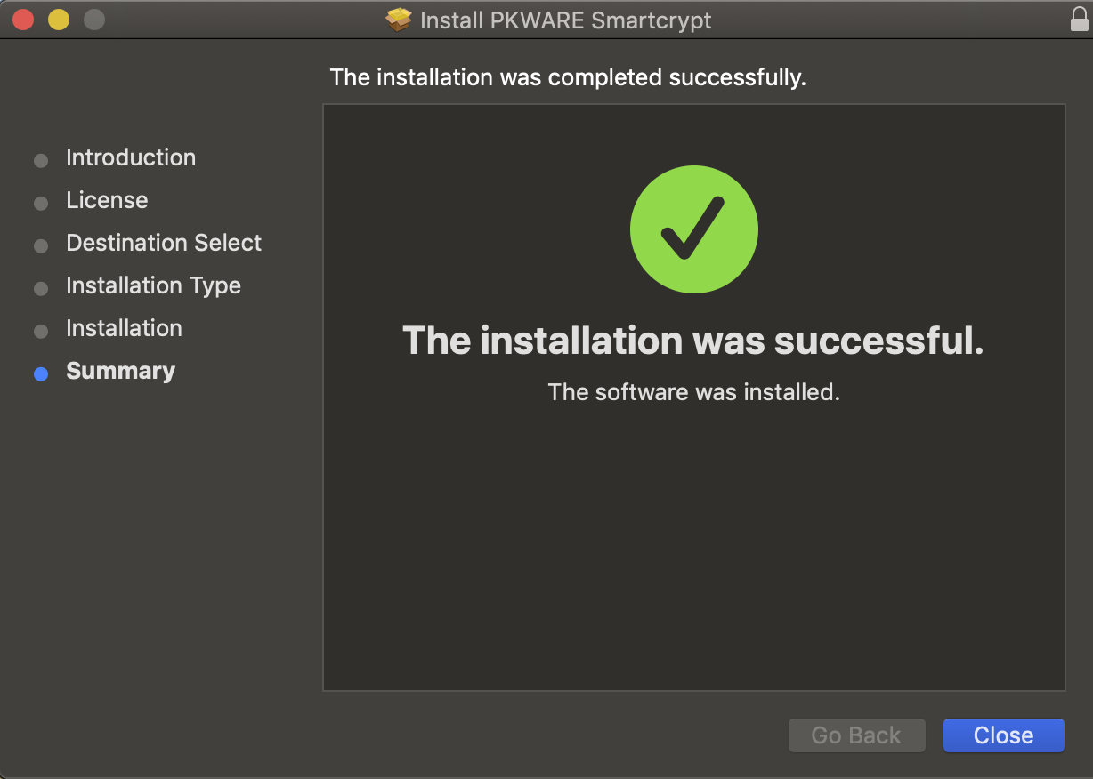 Installation successful is shown to the end user