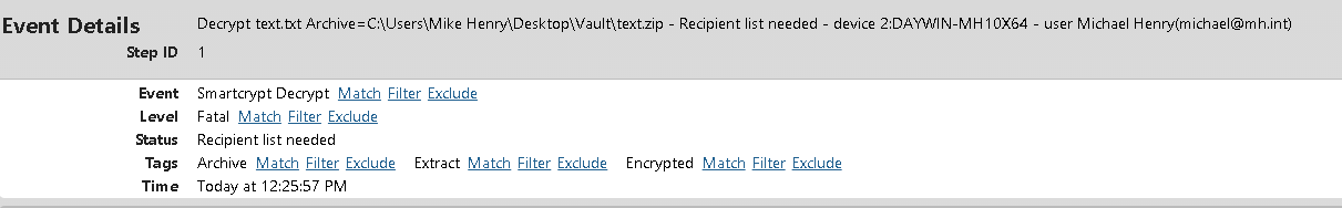 Recipient list needed error