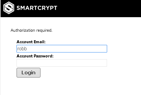 Authorization Required error on login