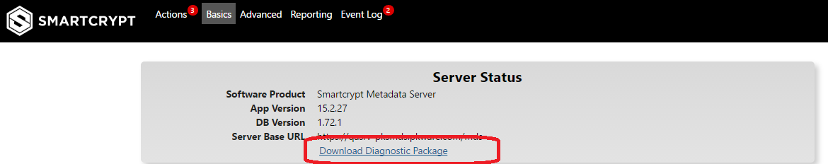 How to pull a diagnostic package for support