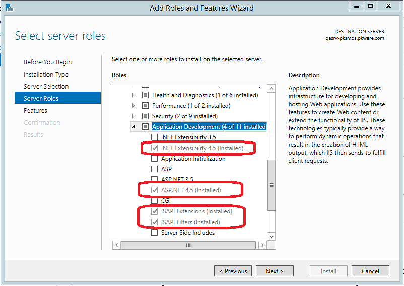 Windows Add Server Roles Wizard