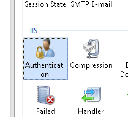 IIS Server Authentication Configuration