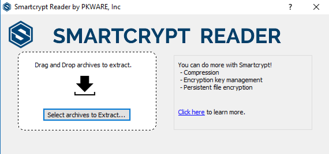 Default Smartcrypt Reader page for users