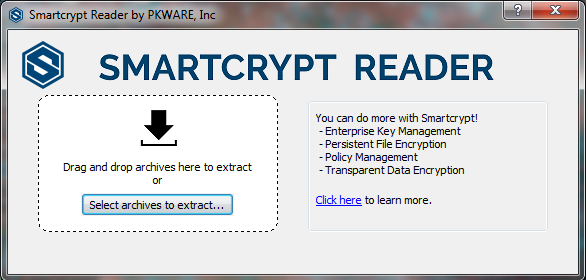 Default page for the Smartcrypt Reader