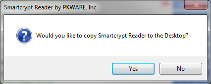 user is asked if they can copy Smartcrypt to the desktop